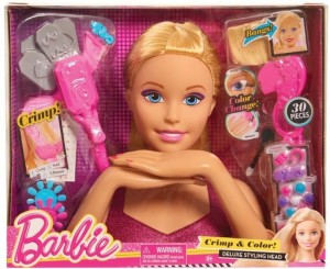 Barbie głowa do czesania Deluxe 30 el. JUST PLAY
