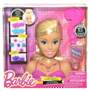 Barbie głowa do czesania 20 el. Fab Friends Styling Head JUST PLAY