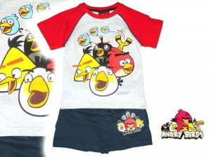 ANGRY BIRDS KOMPLET 2 CZ. LATO, R. 10 L. 140 CM